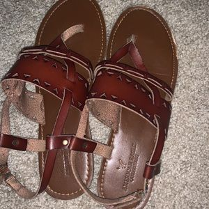 Brown American Eagle Sandals 10
